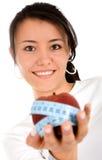 Dieta y nutrición - muchacha con Fotografía de archivo