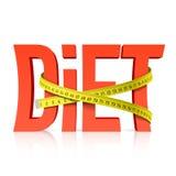 Dieta z pomiarowym taśmy pojęciem Fotografia Royalty Free