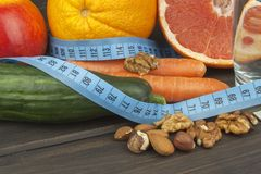 Dietary adherence to the diet program. Fresh dietary food for athletes. Royalty Free Stock Image