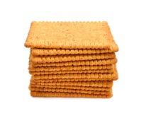 Dietary bran crackers Stock Photo