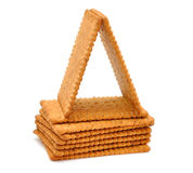 Dietary bran crackers Royalty Free Stock Photography