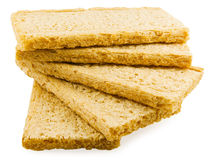 Dietary bread. On white background Royalty Free Stock Photo
