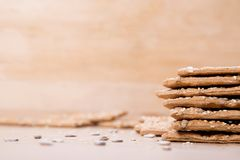 Dietary bread. Diet and health. Dietary breadon craft paper. Diet and health concept stock photography