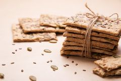Dietary bread. Diet and health. Dietary breadon craft paper. Diet and health concept royalty free stock photo