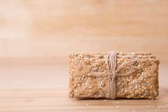 Dietary bread. Diet and health. Dietary breadon craft paper. Diet and health concept royalty free stock photos