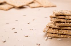 Dietary bread. Diet and health. Dietary breadon craft paper. Diet and health concept stock images
