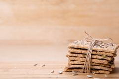 Dietary bread. Diet and health. Dietary breadon craft paper. Diet and health concept stock photo