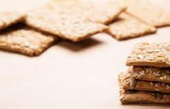 Dietary bread. Diet and health. Dietary breadon craft paper. Diet and health concept royalty free stock photography