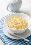 Dietary breakfast with corn porridge Stock Photos