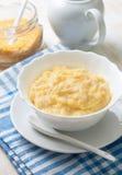 Dietary breakfast with corn porridge Royalty Free Stock Photography
