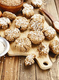 Dietary buckwheat cookies Stock Images
