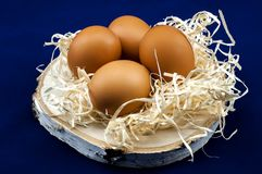 Dietary chicken eggs for breakfast royalty free stock images