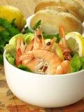 Dietary dish with prawns Stock Photo