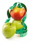 Dietary feed-apples Royalty Free Stock Image