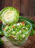 Dietary healthy salad of fresh vegetables Stock Image
