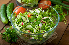 Dietary healthy salad of fresh vegetables Royalty Free Stock Image