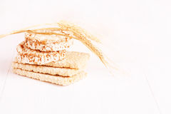 Dietary a low caloric grain crackers Stock Image