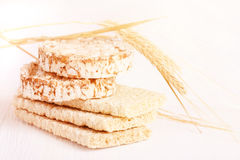 Dietary a low caloric grain crackers Stock Photography