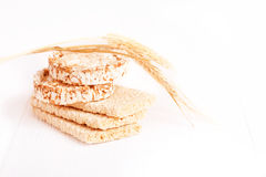 Dietary a low caloric grain crackers Royalty Free Stock Photography