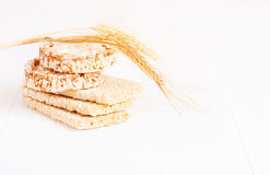 Dietary a low caloric grain crackers Royalty Free Stock Photo