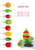 Dietary menu Stock Image