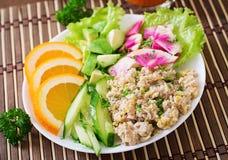 Dietary menu. Breakfast. Oatmeal porridge with vegetables. Stock Photography