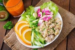 Dietary menu. Breakfast. Oatmeal porridge with vegetables. Stock Images