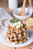 Dietary rice Belgian waffles Stock Image