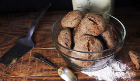 Dietary rye buns Stock Photos