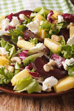 Dietary salad of beets, pineapple, cream cheese, cashews and gre Royalty Free Stock Image