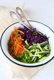 Dietary salad with carrots Stock Image