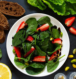 Dietary salad with strawberries Royalty Free Stock Photo