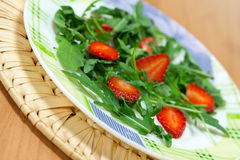Dietary salad with  strawberry Stock Photography