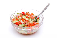 dietary salad from tomatoes Royalty Free Stock Photography