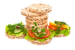 Dietary sandwiches. Royalty Free Stock Image