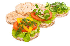 Dietary sandwiches. Stock Image