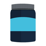 Dietary supplement icon. Simple flat design dietary supplement icon  illustration Stock Photography
