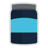Dietary supplement icon. Simple flat design dietary supplement icon  illustration Royalty Free Stock Photo