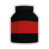 Dietary supplement icon. Simple flat design dietary supplement icon  illustration Royalty Free Stock Images
