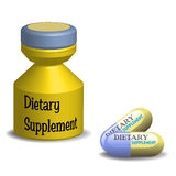 Dietary supplement pills Royalty Free Stock Images