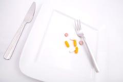 Dietary Supplementation. Pills or medication as a dietary supplementation Stock Images