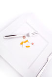 Dietary Supplementation. Pills or medication as a dietary supplementation Royalty Free Stock Images