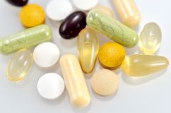 Dietary Supplements. Royalty Free Stock Images