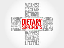 Dietary Supplements word cloud Stock Photography