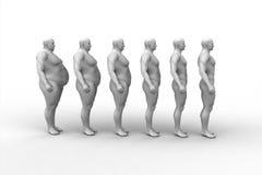 Dietas del hombre, diseño de la aptitud Imagenes de archivo