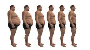 Diete dell'uomo, disegno di forma fisica Immagini Stock