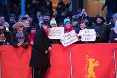 Dieter Kosslick, Directeur van het Berlinale-Festival, stelt op rood tapijt Stock Foto