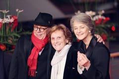 Dieter Kosslick, Liliana Cavani and Charlotte Rampling stock images