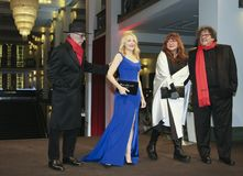 Dieter Kosslick, Patricia Clarkson, Isabel Coixet στοκ φωτογραφία με δικαίωμα ελεύθερης χρήσης