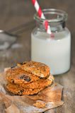 Dietetic biscuits and milk Royalty Free Stock Photography